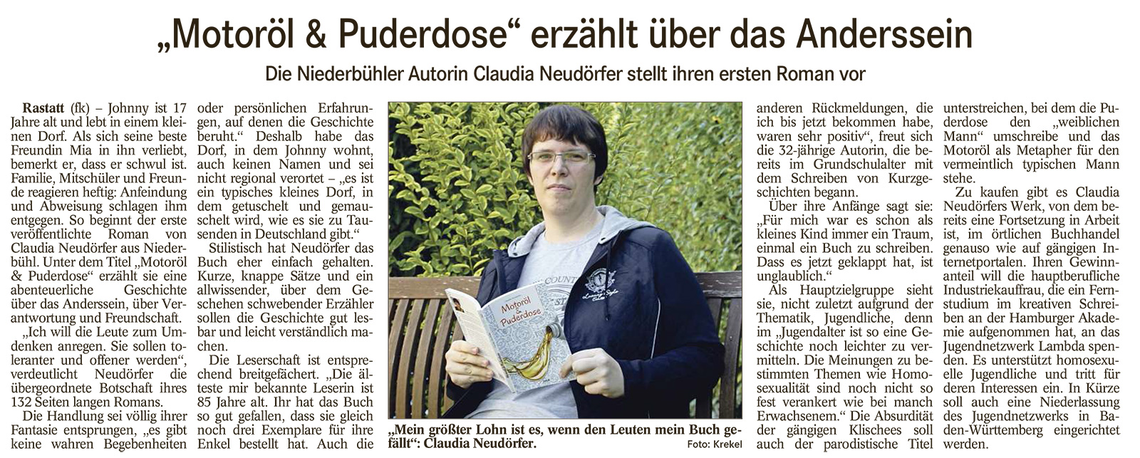 Badisches Tagblatt, 7. April 2015